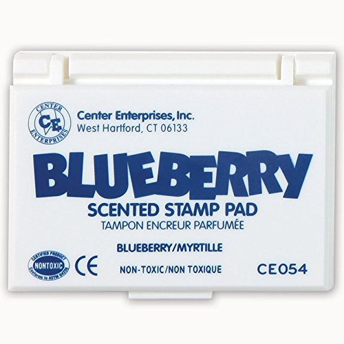 Scented Stamp Pad Refills (Center Enterprises CE-54BN Blue Stamp Pad Scented Blueberry44; 6 Each)