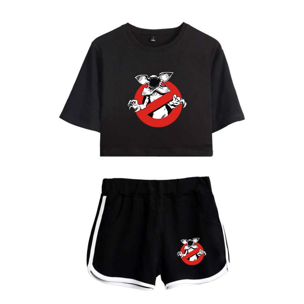 Abluewhale Girls Stranger Things Season Tee Fashion Short Sleeve T-Shirt Suit