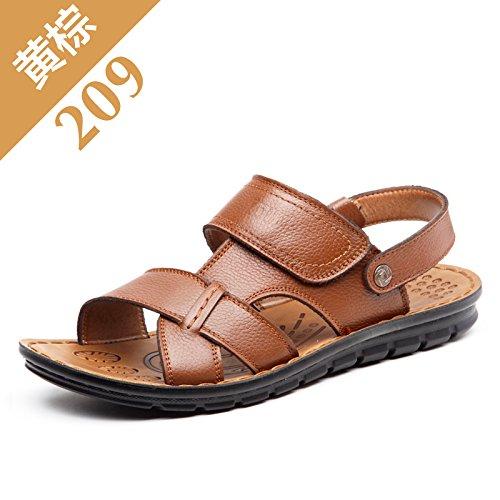 Black Summer Marée Les Pantoufles Chaussures De Plage, Occasionnel, Hommes, Non Glissants.,Eu38Cn39,Brun - Jaune
