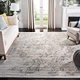 oversized area rugs Safavieh ADR101B-1115 Adirondack Collection ADR101B Oriental Vintage Distressed Area Rug, 11' x 15', Ivory/Silver