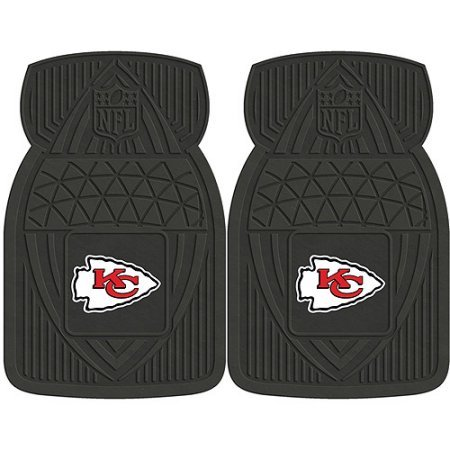 NFL 4-Piece Front #36572628 and Rear #19888894 Heavy-Duty Vinyl Car Mat Set, Kansas City Chiefs by Sports Licensing Solutions LLC