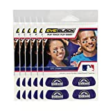 (24 Strips) Colorado Rockies MLB Eye Black Anti Glare Strips, Great for Fans & Athletes on Game Day