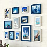 Home@Wall photo frame Photo Gallery Frame Set Of Wall With Usable Artwork And Family, Set Of 13 ( Color : D )