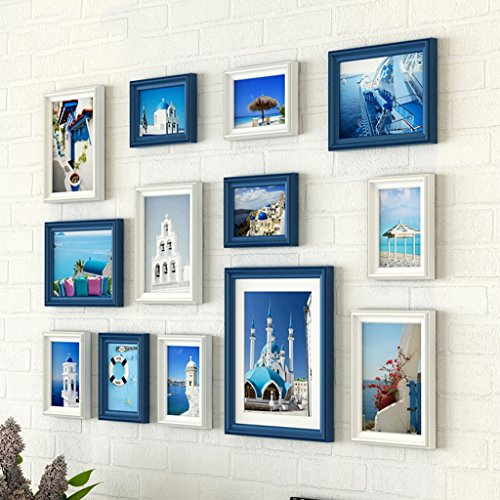 Home@Wall photo frame Photo Gallery Frame Set Of Wall With Usable Artwork And Family, Set Of 13 ( Color : D ) by ZGP