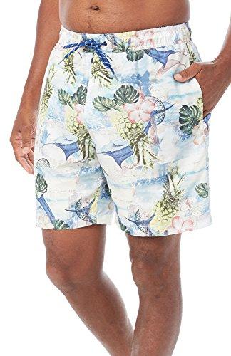 Caribbean Joe Mens Postage Volley Swim Shorts Medium Multi