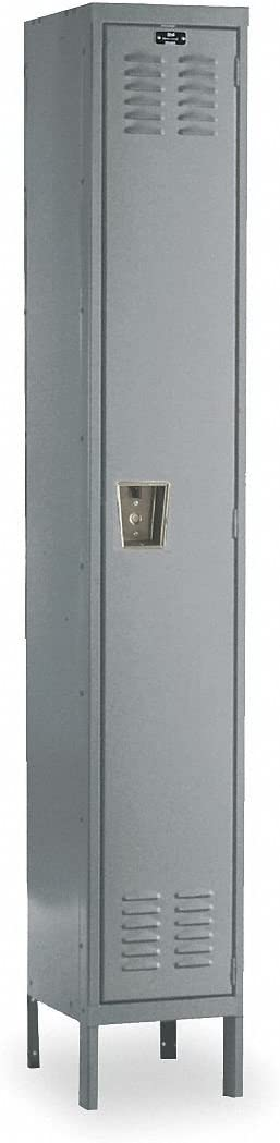 Premium 1 Tier 1 Wide Contemporary Locker Dimensions W X D X H 15 X 18 X 72 Parchment And Gray Only Color Hallowell Gray Office Storage Lockers Office Products