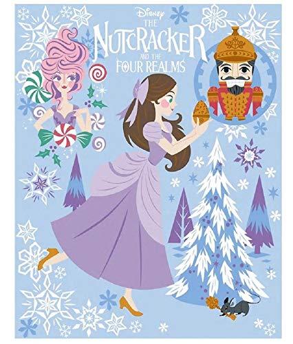 (Disney's The Nutcracker and The Four Realms Blanket Throw- Clara, Ballerina, Sugar Plum Fairy & Nutcracker (Blue))