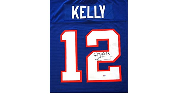 9767d4a597c BUFFALO BILLS JIM KELLY AUTOGRAPHED BLUE MITCHELL & NESS JERSEY SIZE 44  PSA/DNA STOCK #99168 at Amazon's Sports Collectibles Store