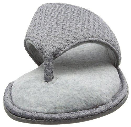 Dearfoams Thong - Pantuflas Mujer Gris (Medium Grey)