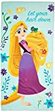 Disney Tangled Let Your Hair Down 28'' x 58'' Cotton Bath, Pool , Beach Towel, Purple/Teal/Yellow