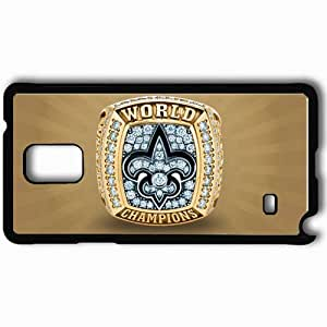 Personalized Samsung Note 4 Cell phone Case/Cover Skin 1677 new orleans saints Black