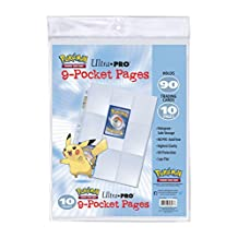 Ultra pro 9-Pocket Pages for Pokemon Trading Cards - Pack of 10 Pages