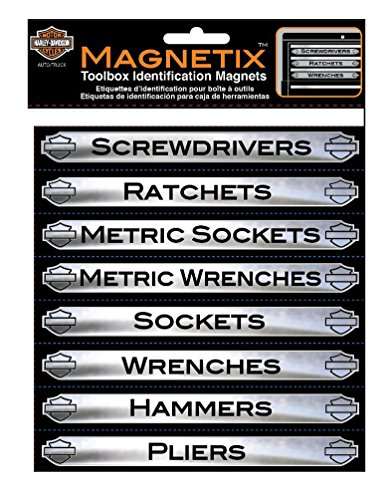 Harley-Davidson Magnetix 16 Piece Tool Box Identification Magnets