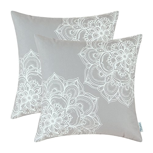 Pack of 2 CaliTime Cozy Fleece Throw Pillow Cases Covers for