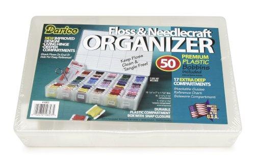One Box of 50 Plastic Bobbins Floss & Needlecraft Organizer