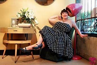 Sizes 8-18 DangerousFX Rockabilly Black//White Polka-Dots Strapless Dress Large Satin Bow
