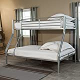 Duro Wesley Twin over Full Bunk Bed - Silver