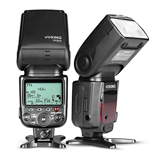 Voking Professional Master I TTL Speedlite Flash Remote Flash V900 fit D3400 D3300 D3200 D5600 D850 D750 D7200 D5300 D5500 D500 D7100 D3100 and Other DSLR Cameras