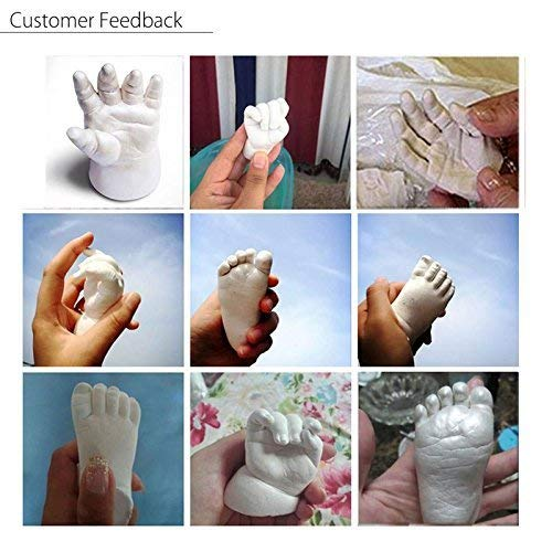 Mold Your Memories 3D Baby Casting Kit Molding Powder for Hand Cast Foot cast, Newborn Baby and Toddler Hand Impression Foot Impression, 3D Life Casting Kit with Molding Powder & Casting Powder