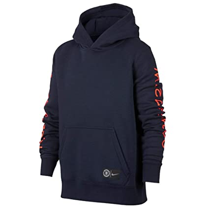 a8791493c83f Amazon.com   Nike 2018-2019 Chelsea Core Hooded Top (Obsidian ...