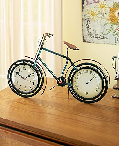 The Lakeside Collection Vintage Metal Bicycle Clock & (Bike Clock)