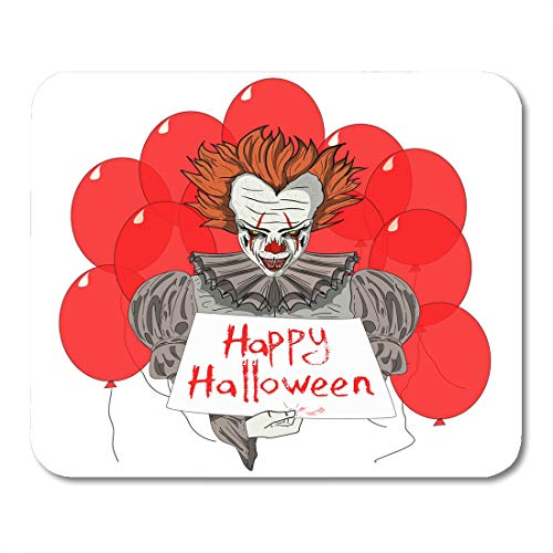 Emvency Mouse Pads Creepy Character Evil Clown Wiith