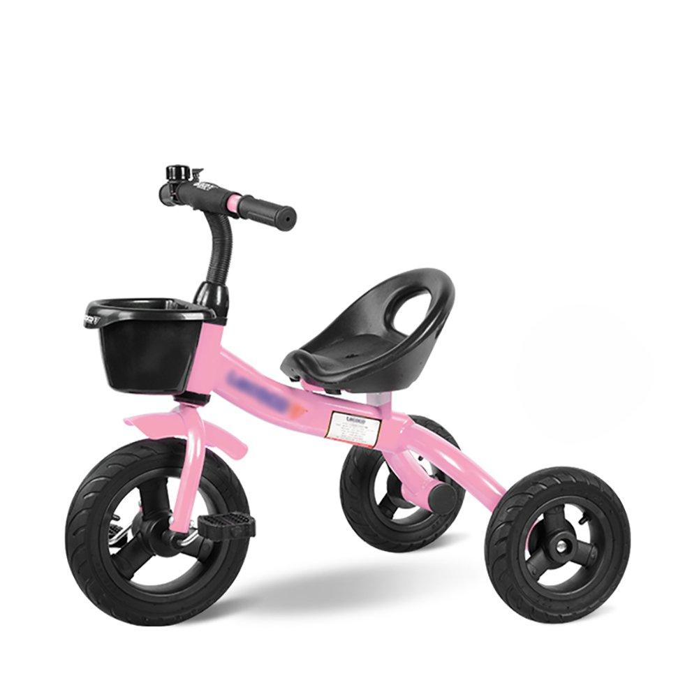 Tricycle 3 Wheels Trike Stroller Baby Carriage Children Kids Ride-On Bike 2-3-5 Years Old Bike - Bearing 25kg (Color : Pink)