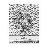 Trademark Fine Art ALI42025-C1824GG Floral Glass Line Art by Laura Miller, 18x24-Inch, 18x24, Multicolor