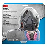 3M Half Facepiece Reusable Respirator All-in-One Kit, Mold and Lead Paint Removal, M (1 Mask, 1-pair Filters)