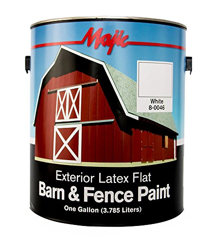 Majic Paints 8-0046-1 Exterior Latex Flat Barn and Fence ...