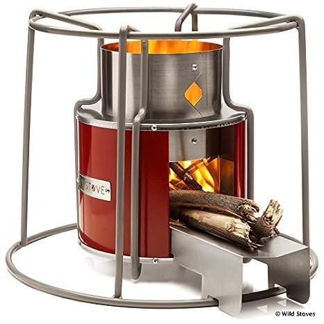 Amazon.com: ezystove – Maroon | Hornillo Rocket Estufa ...