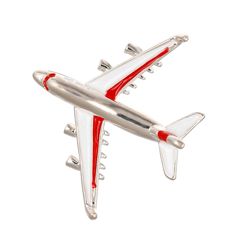 HighPlus Cool Funny Airplane Plane Brooch Corsage Cartoon Brooch Jewelry Accessory Pins