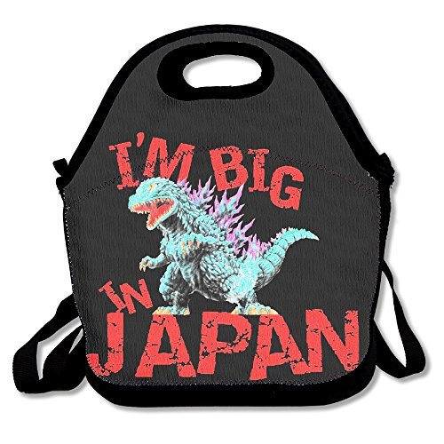 Black Godzilla Big In Japan Unisex Lunch Bags For Woman Man Kid (Godzilla 2000 Poster compare prices)
