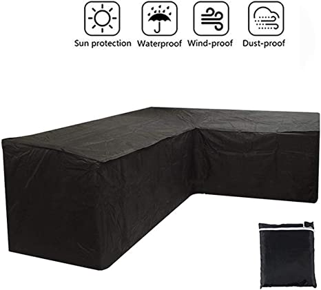 Cubiertas Muebles jardín en Forma L Funda sofá Esquina Fibra poliéster Impermeable Patio a Prueba Polvo al Aire Libre: Amazon.es: Deportes y aire libre