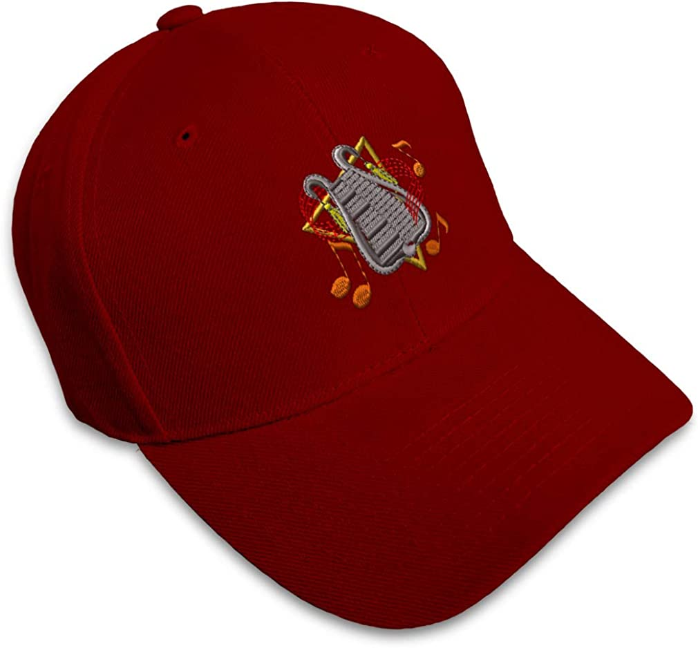Custom Baseball Cap Bell Lyre Embroidery Dad Hats for Men /& Women Strap Closure