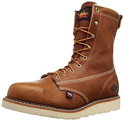 """Thorogood Men's American Heritage 8"""" Safety Toe Boot,Tobacco Gladiator,7 D US"""