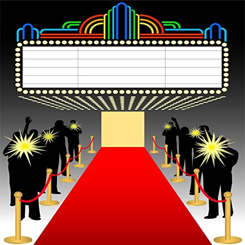 Baocicco Customized Red Carpet Backdrop 6x6ft Photography Background Hollywood Showing Spotlights Milan Show Catwalk Model Paris Fashion Show Film Drama Stage Play (Fashion Red Hollywood Carpet)