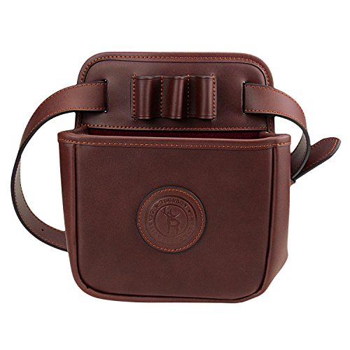 Tourbon Leather Waist Rifle Cartridge Bag Shotgun Shell Holder Pouch (Hold 12 Gauge ,16 Gauge ,20 Gauge)