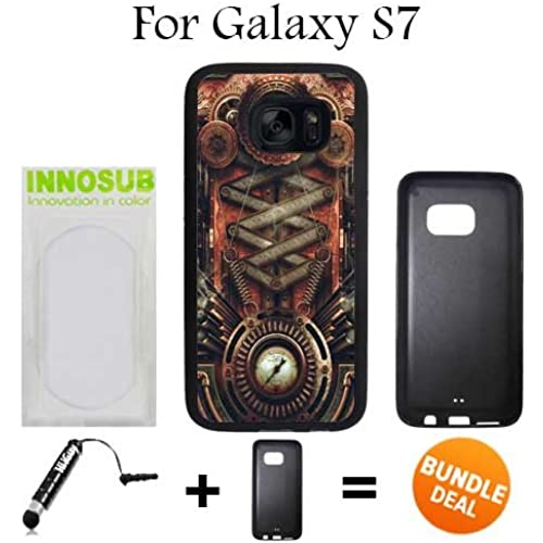 Steampunk Motherboard Custom Galaxy S7 Cases-Black-Rubber,Bundle 2in1 Comes with Custom Case/Universal Stylus Sales