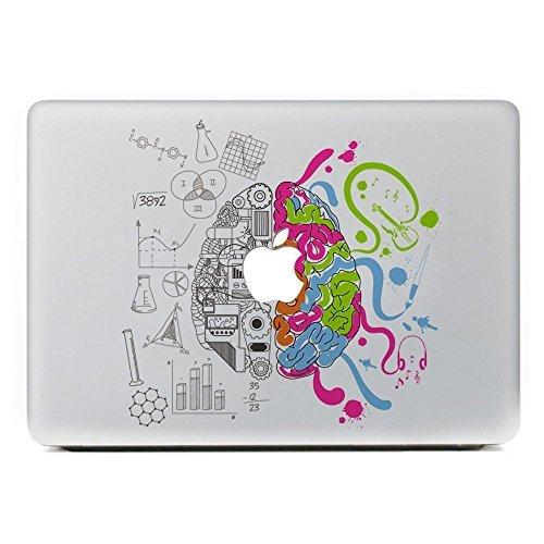 CHOP MALL® Creative Brain 1 - Removable Vinyl Laptop Decal Sticker Skin for Apple Macbook Pro Air Mac 11