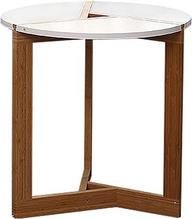 Tables de pique-nique Table basse ronde blanche en bois ...