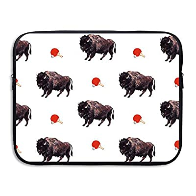 Fashion Laptop Sleeve Case Buffalo Ping-Pong Seamless Art Computer Storage Bag Portable Protective Bag Briefcase Sleeve Bags Cover for MacBook/Ultrabook/Notebook/Laptop