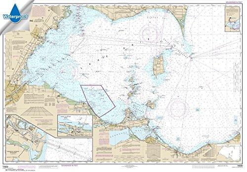 Paradise Cay Publications NOAA Chart 14830: West End of Lake Erie; Port Clinton Harbor; Monroe Harbor 33.7 x 48.3 (WATERPROOF) (Best Kayak For Lake Erie)