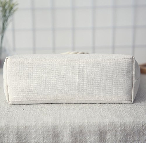 Canvas Protection Shoulder Environmental Holiday Blackwhite Tote Summer Shopping Shopping Ladies Bag Bag Reuseable SHINA Beach qPF5nt