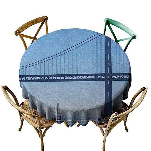 Halloween Party San Francisco Boat (Sunnyhome Anti-Fading Tablecloths Sailboat San Francisco Bay Bridge Sailboat from Pier 7 in California USA Landmark Photo Print Blue Party Decorations Table Cover Cloth 67)