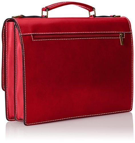 38x29x12cm Portadocumenti Made CTM in Borsa Rossa Uomo Italy da Pelle Pelle Vera in 100 Lavoro qPW0SqR
