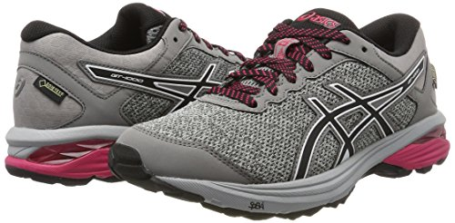 Asics 2018 Ladies GT-1000 6 G-TX Road Running Sports Shoes Mid Grey/Black/Aluminum cost for sale store cheap online qgPZEP