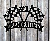 Checkered Flags Custom Name- Metal/Steel Sign - Handmade USA - Racing Flags - #1