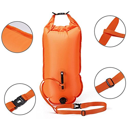 New Wave Swim Buoy,Swim Bubble-Outdoor Swimming Buoy Multifunctional Swimming Drifting Bag Open Water Swimming Training Buoy by Greencolorful (Image #2)