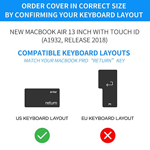 CaseBuy Premium Ultra Thin Keyboard Cover Compatible Newest MacBook Air 13 Inch 2019 2018 Release A1 - http://coolthings.us